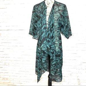 LuLaRoe Sheer Floral Print Kimono Coverup Size S